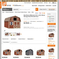 Millcreek 12 ft. x 20 ft. Wood Storage Shed Kit with Floor-millcreek_1220f at The Home Depot