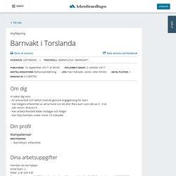 Barnvakt i Torslanda - myNanny - Platsbanken