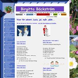 VISOR FÖR ADVENT-LUCIA-JUL-NYÅR- PÅSK - Barnvisor ¤ Birgitta Bäckström ¤ Läromedel ¤ Barnkör ¤ TonArt