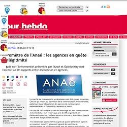 Baromètre de l'Anaé : les agences en quête de légitimité