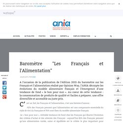 """ANIA 24/06/15 Baromètre """"Les Français et l'Alimentation"""""""
