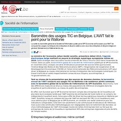 AWT Baromètre 2012 des TIC en Belgique