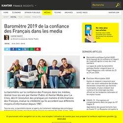 Baromètre 2019 de la confiance des Français dans les media