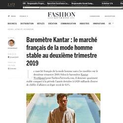 Baromètre Kantar : le marché français de la mode homme stable au deuxième trimestre 2019 - Actualité : distribution (#1130058)