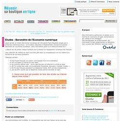 Etudes : Baromètre de l'Economie numérique