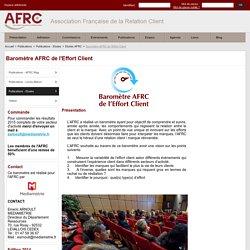 barometre_effort_client - Baromètre AFRC de l'Effort Client