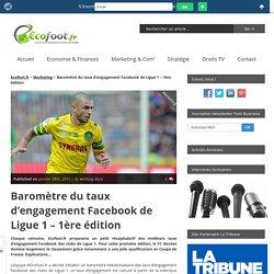 Baromètre du taux d'engagement Facebook de Ligue 1 - 1ère édition