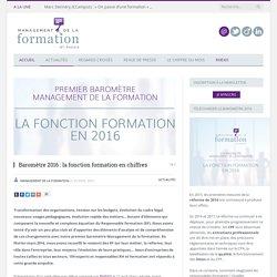Baromètre 2016 : la fonction formation en chiffres