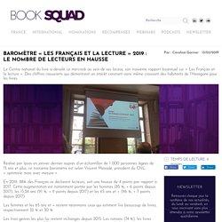 Baromètre «Les Français et la lecture» 2019 : le nombre de lecteurs en hausse
