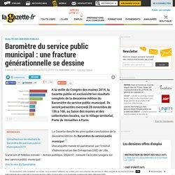 Baromètre du service public municipal : une fracture générationnelle se dessine - Lagazette.fr