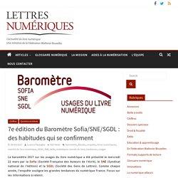 7e édition du Baromètre Sofia/SNE/SGDL : des habitudes qui se confirment