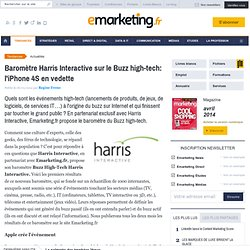 Baromètre Harris Interactive sur le Buzz high-tech: l'iPhone 4S en vedette