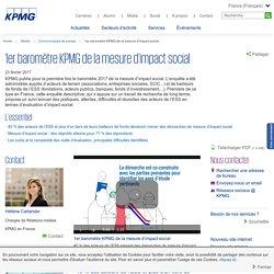 1er baromètre KPMG de la mesure d'impact social