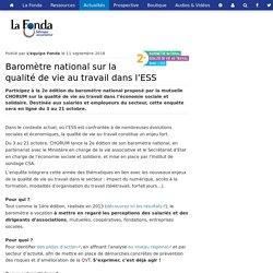 Baromètre national sur la qualité de vie au travail dans l'ESS