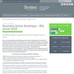 Baromètre Syntec Numérique – BVA janvier 2015