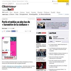 Partis et médias au plus bas du « baromètre de la confiance »