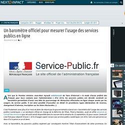 Un baromètre officiel pour mesurer l'usage des services publics en ligne