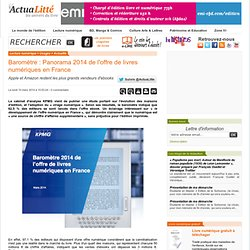 Baromètre : Panorama 2014 de l'offre de livres numériques en France
