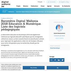 Baromètre Digital Wallonia 2018 Education & Numérique. Liste des logiciels pédagogiques