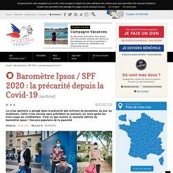 Baromètre Ipsos / SPF 2020 : la précarité depuis la Covid-19 / Secours populaire, septembre 2020