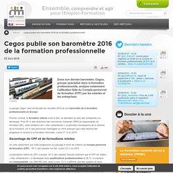 Cegos publie son baromètre 2016 de la formation professionnelle