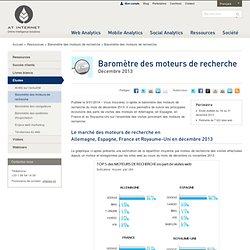 Baromètre des moteurs de recherche - 9 janvier 2014