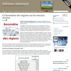 Le baromètre des régions sur les réseaux sociaux