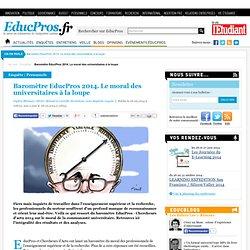 Baromètre EducPros 2014. Le moral des universitaires à la loupe