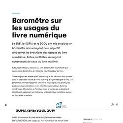 Baromètre sur les usages du livre numérique