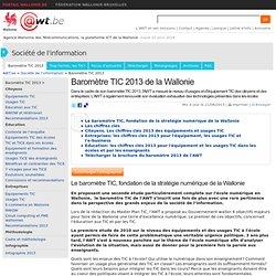AWT Baromètre TIC 2013 en Wallonie