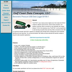 GCDC B1100-1 Barometric Pressure Data Logger