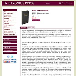 Baronius Press: Douay-Rheims Psalms and New Testament - Pocket Size Edition