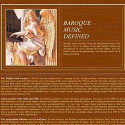 BAROQUE MUSIC DEFINED