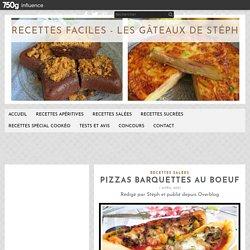 Pizzas barquettes au boeuf