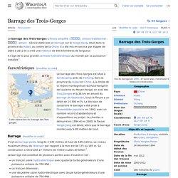 Barrage des Trois-Gorges