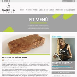 Barras de proteína casera - Sascha Fitness