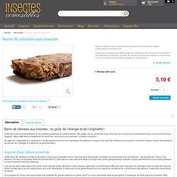 Barre de céréales à la farine d'insectes