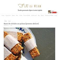 Barre de céréales au quinoa [pomme abricot]