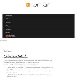 Code-barre Norme EAN13 EAN14 EAN128 GS1ITF SSCC étiquette