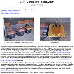 Barrel Composting Toilet System
