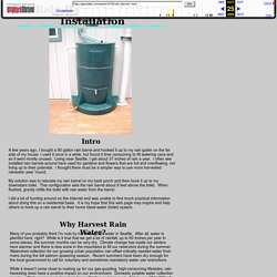 Rain Barrel To Toilet Installation - Page 1