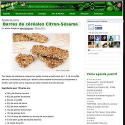 Barres de céréales Citron-Sésame