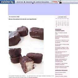 Barres chocolatées à la noix de coco type Bounty - Laëtit'recettes