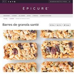 Barres de granola santé