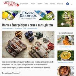 Barres énergétiques crues sans gluten