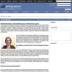 Elodie Barreteau : Des tablettes pour l'allemand au lycée