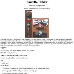 Barrette Holder