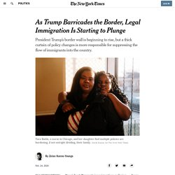 As Trump Barricades the Border, Legal Immigration Is Starting to Plunge