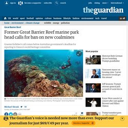 Former Great Barrier Reef marine park head calls for ban on new coalmines