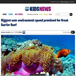 Great Barrier Reef massive budget spend